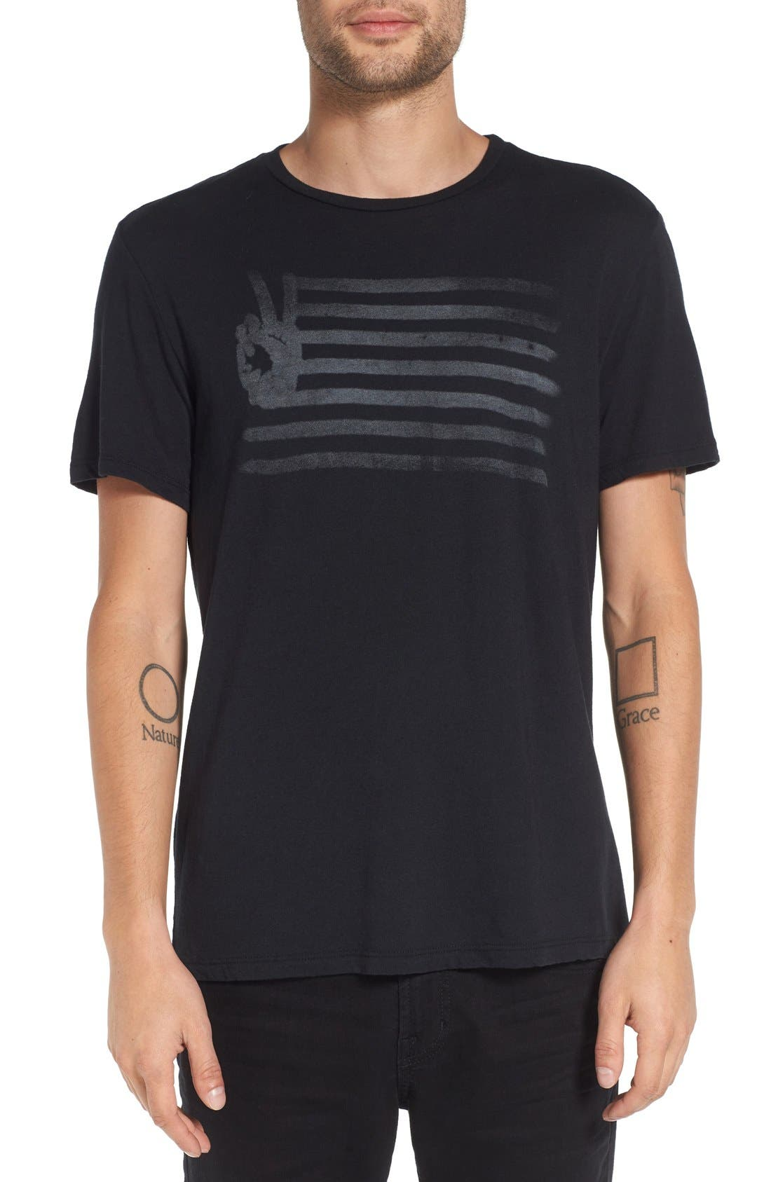 Alternate Image 1 Selected - John Varvatos Star USA 'Peace Flag' Graphic T-Shirt