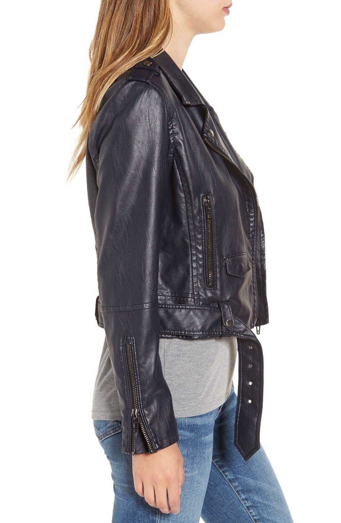 Alternate Image 3  - BLANKNYC Faux Leather Crop Moto Jacket