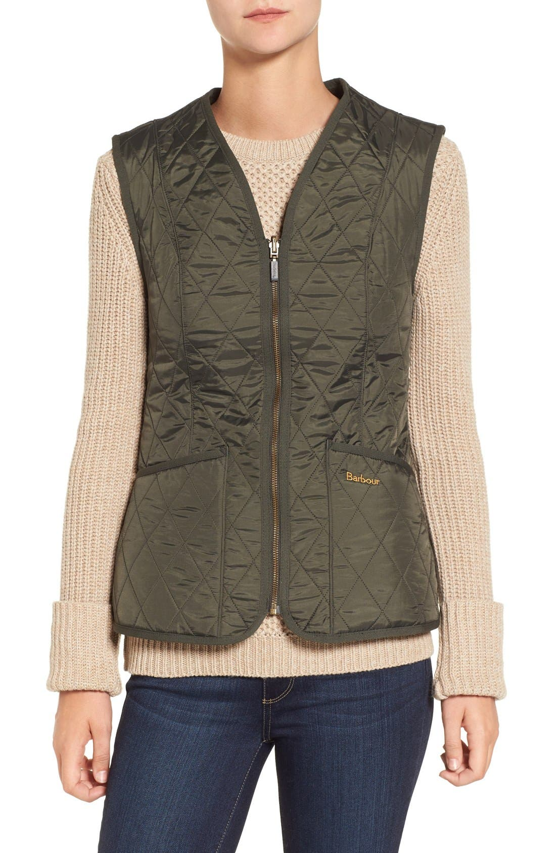 Alternate Image 1 Selected - Barbour 'Betty' Fleece Lined Quilted Liner