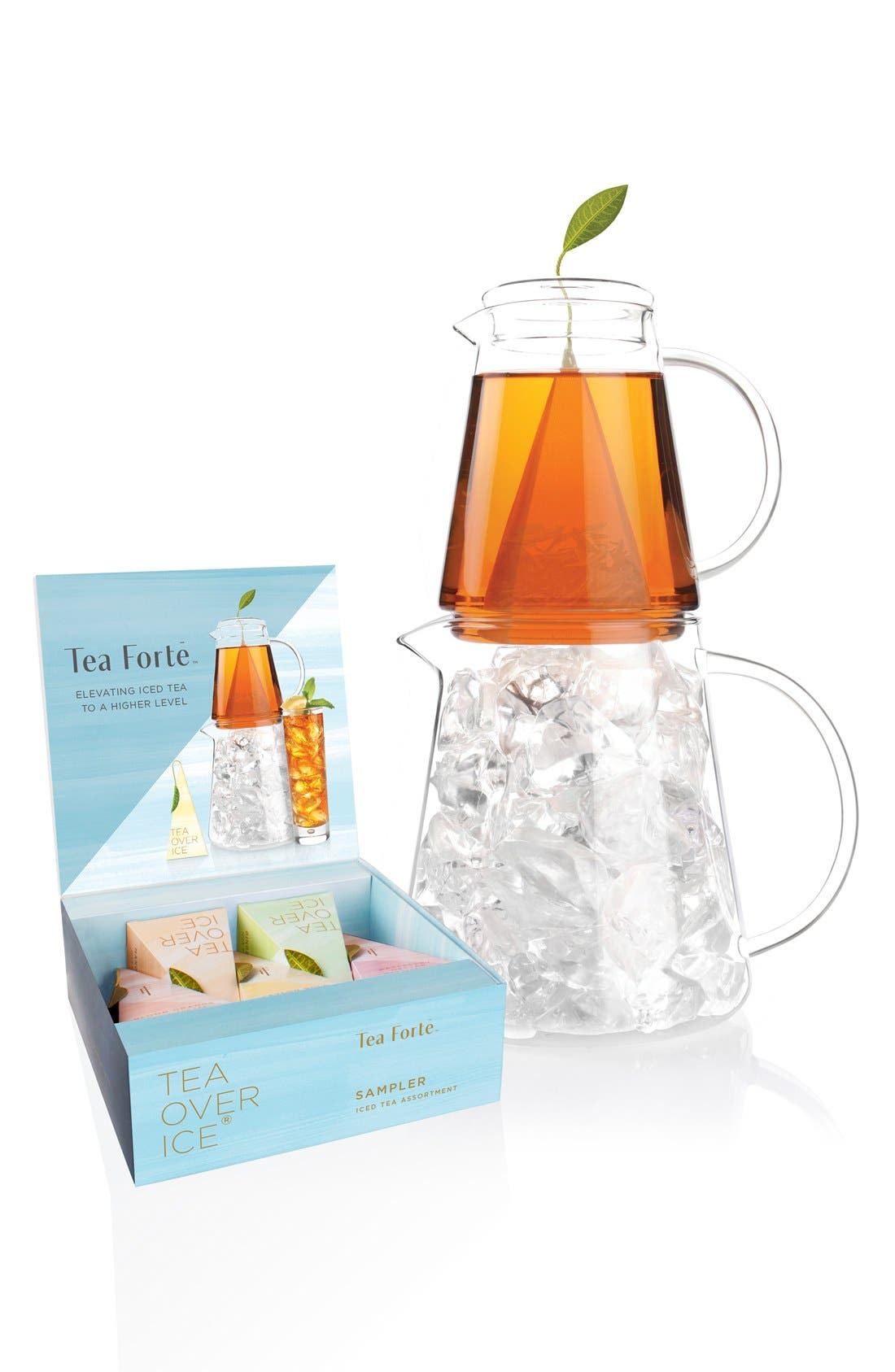 'Tea Over Ice' Pitcher Set,                             Main thumbnail 1, color,                             Blue