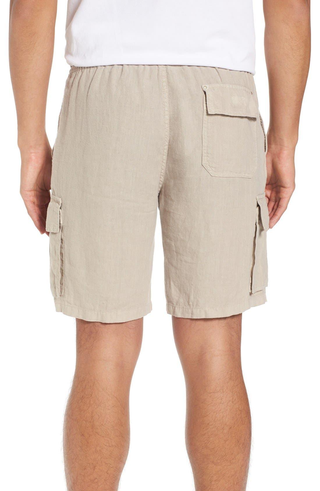 Vilbrequin Linen Cargo Shorts,                             Alternate thumbnail 2, color,                             Jute