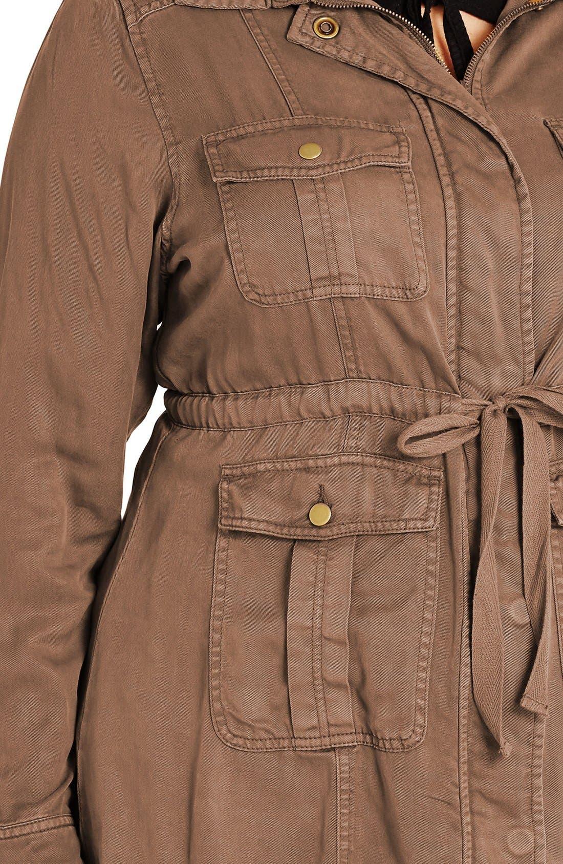 Alternate Image 4  - City Chic 'Adventure' Utility Jacket (Plus Size)