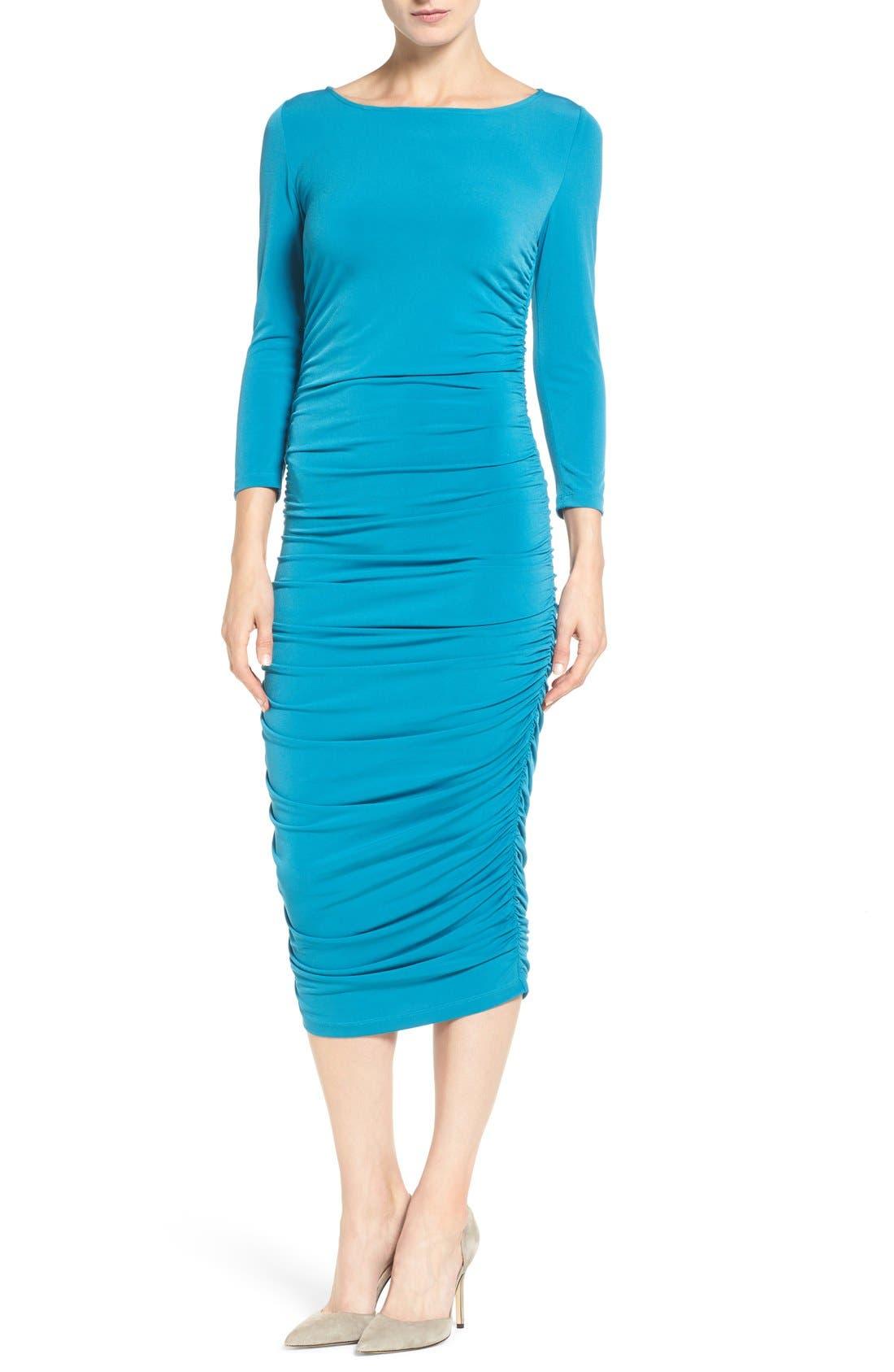 CATHERINE CATHERINE MALANDRINO Lansbury Ruched Sheath Dress