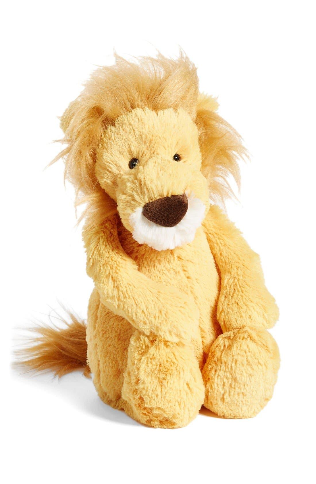 'Medium Bashful Lion' Stuffed Animal,                             Main thumbnail 1, color,                             Brown