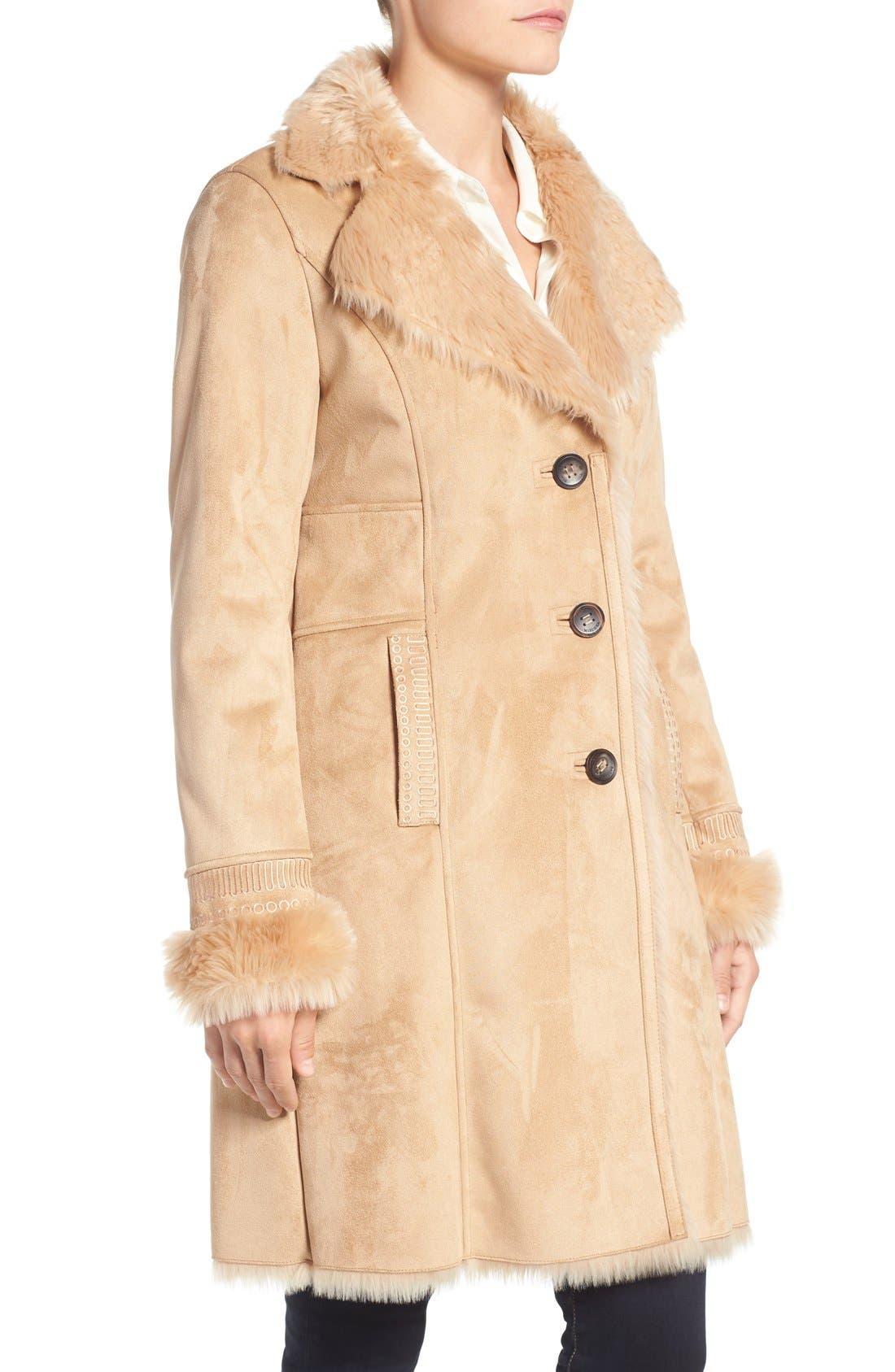Alternate Image 3  - Badgley Mischka Faux Shearling Lined Coat