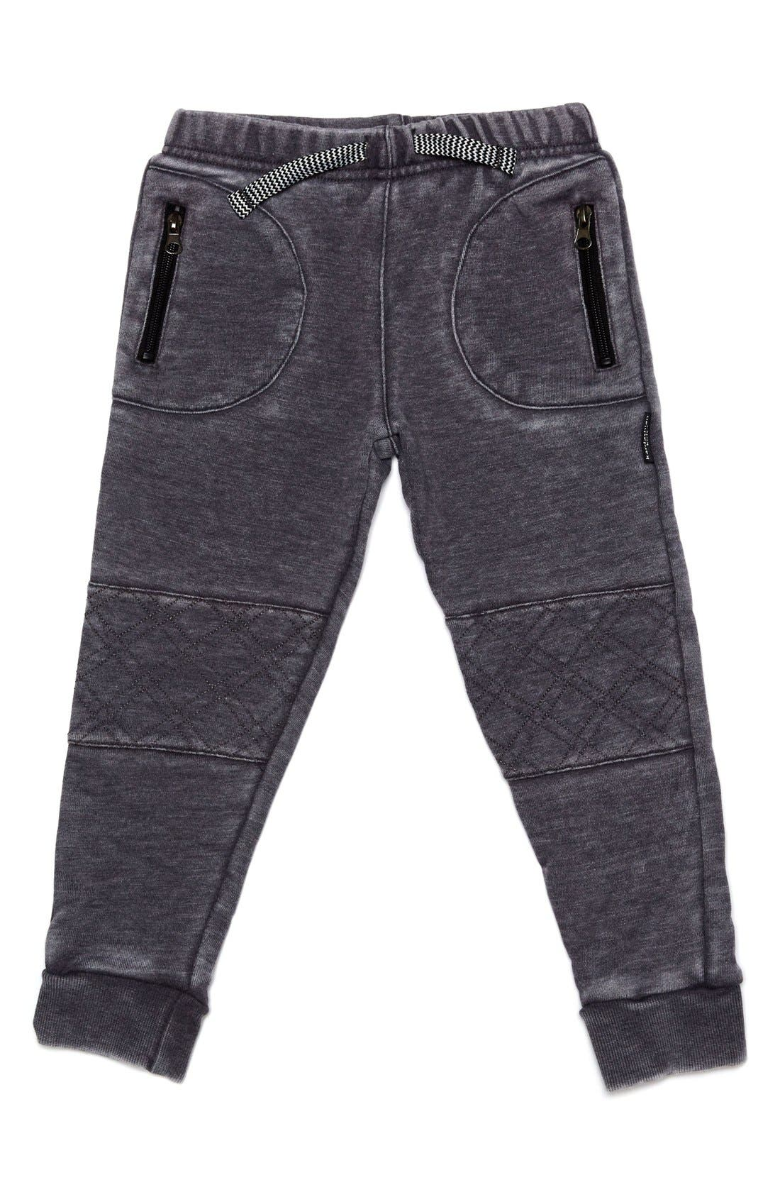 Quilted Jogger Pants,                             Main thumbnail 1, color,                             Grey