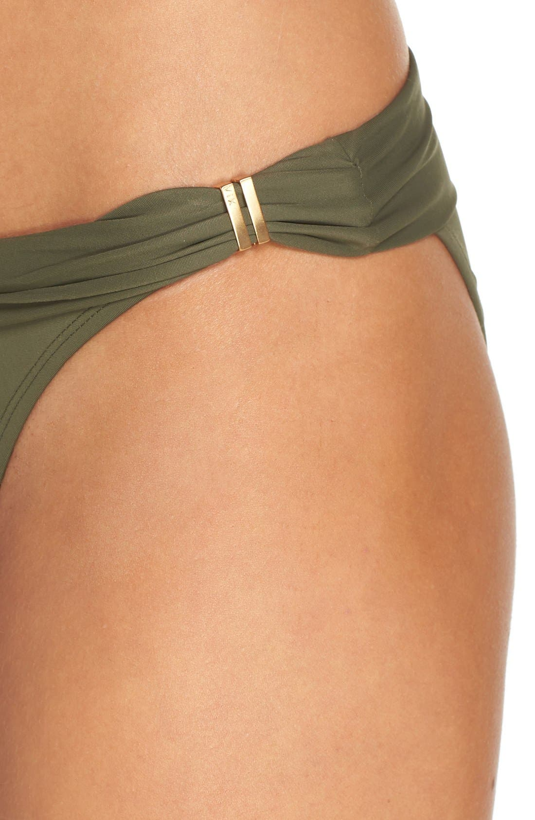 'Bia' Bikini Bottoms,                             Alternate thumbnail 4, color,                             Military