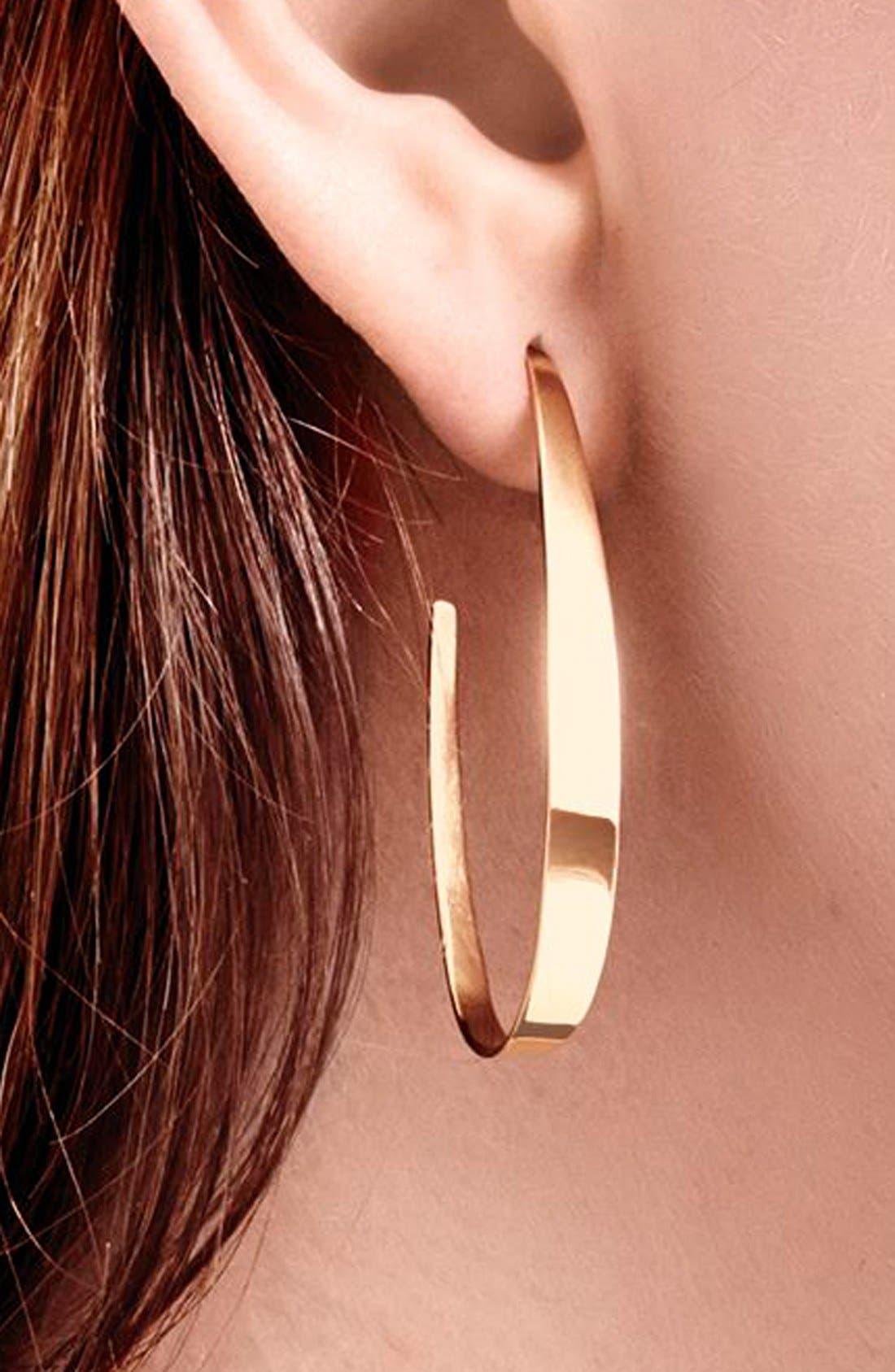 Oval Hoop Earrings,                             Alternate thumbnail 2, color,