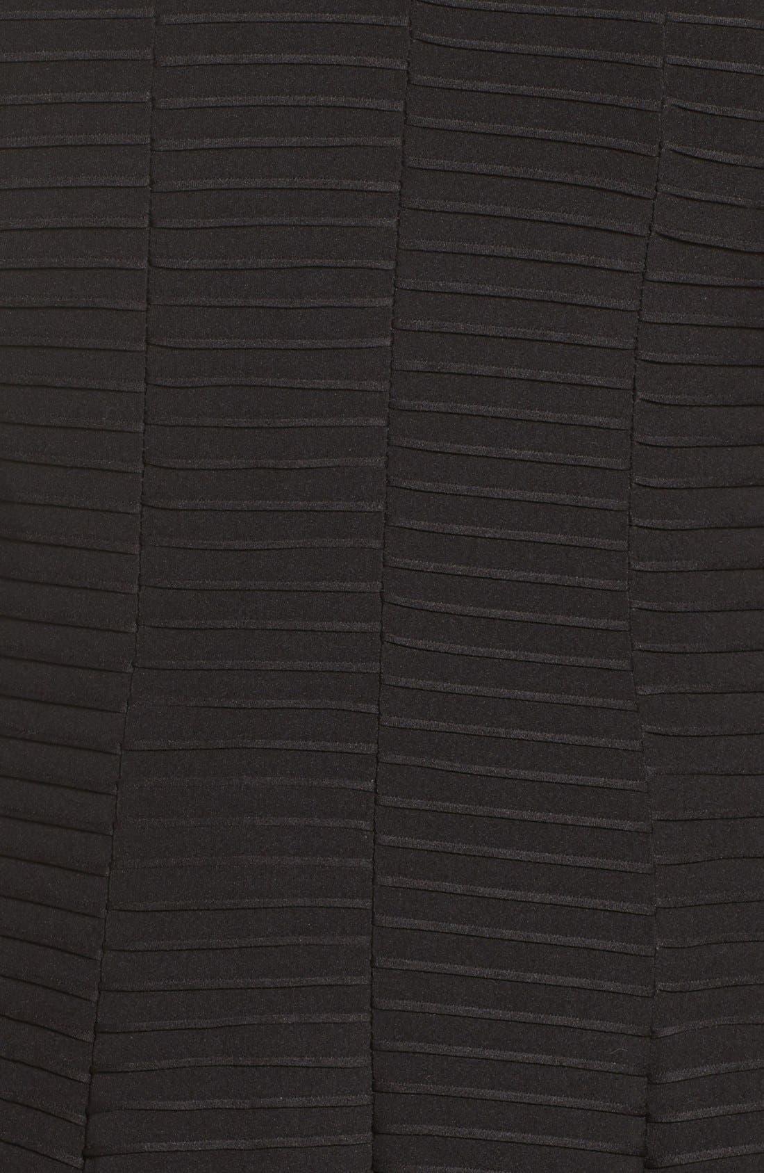 Alternate Image 6  - Gabby Skye Pintuck Knit Fit & Flare Dress (Plus Size)
