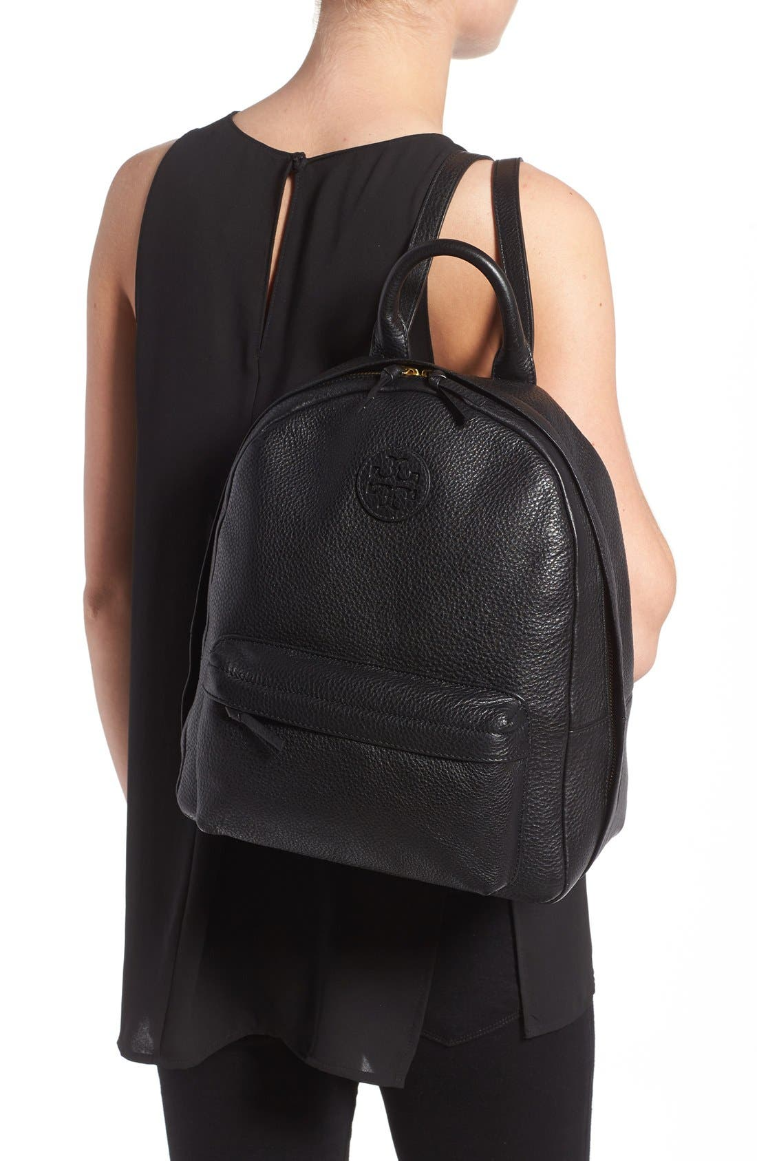 Alternate Image 2  - Tory Burch Pebbled Leather Backpack
