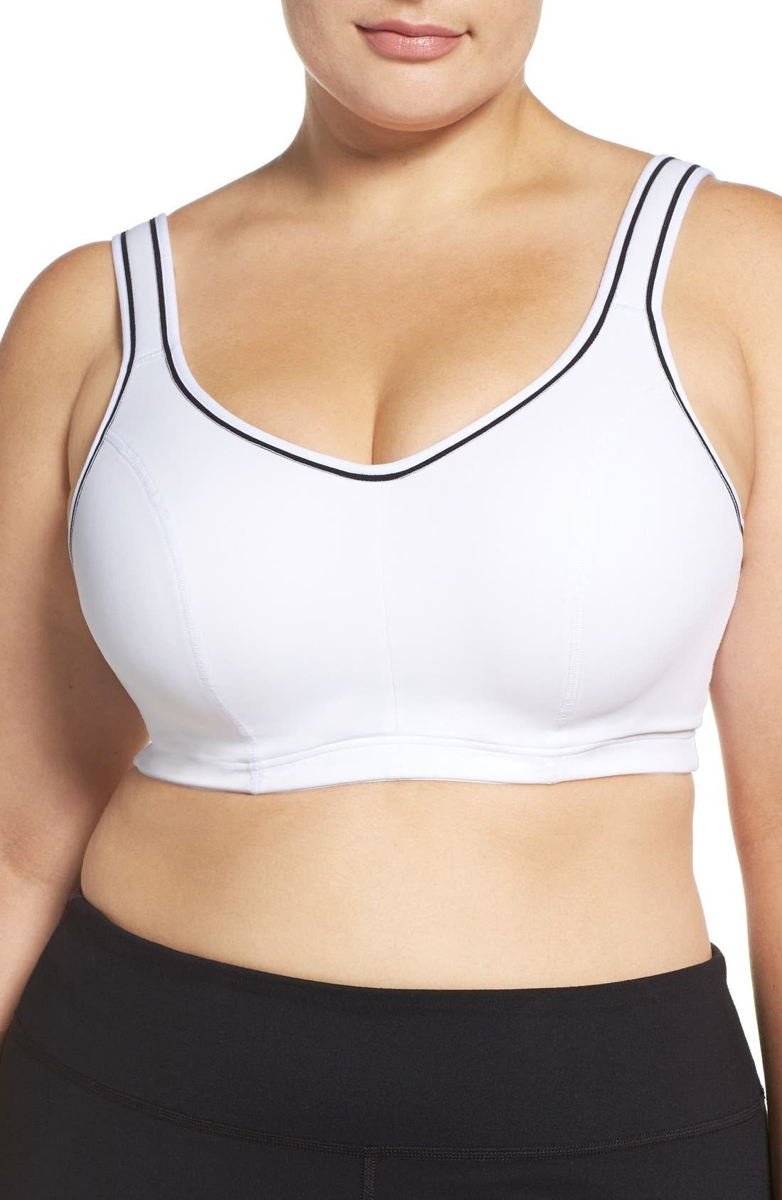 'Gabriella' Underwire Sports Bra,                         Main,                         color, White