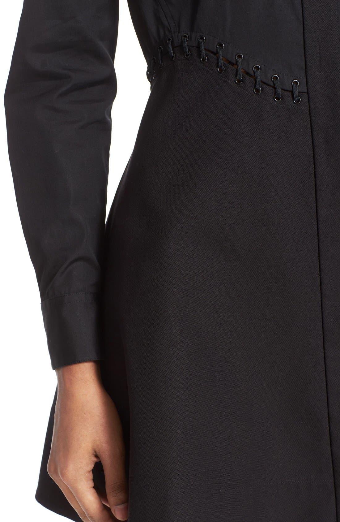 Alternate Image 6  - Alexander Wang Lace Detail Fit & Flare Shirtdress