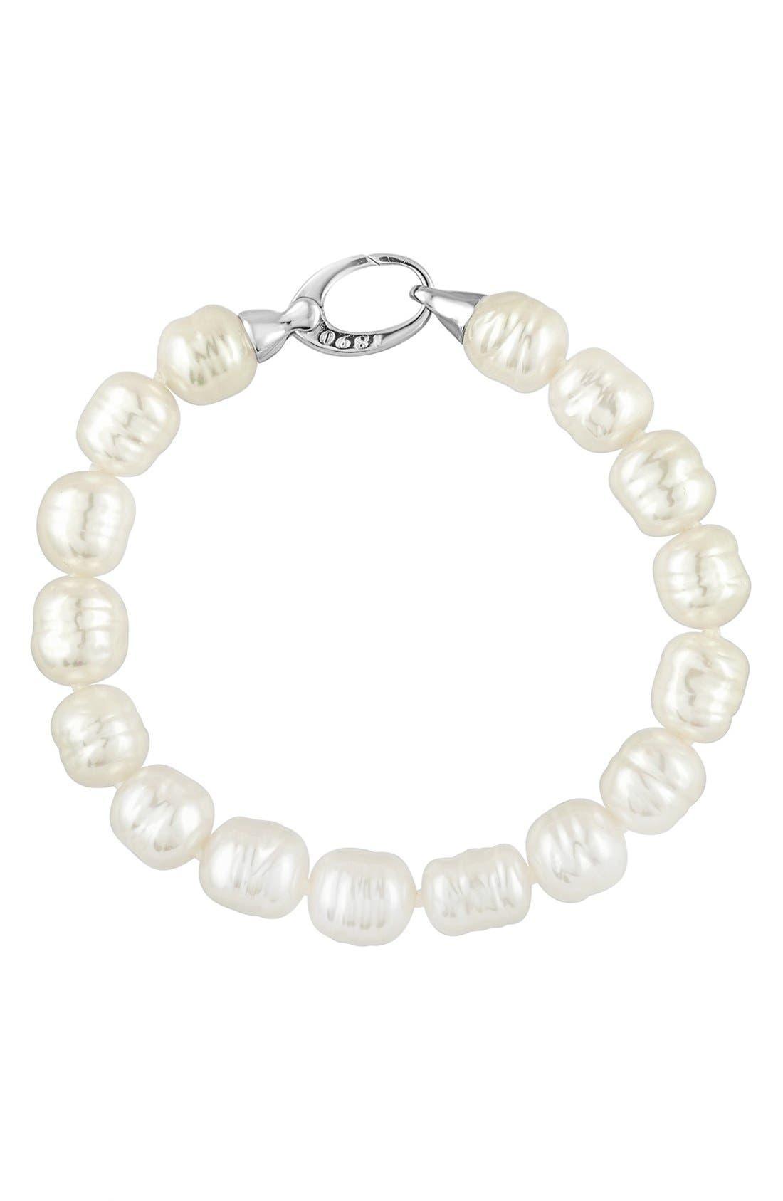 Alternate Image 1 Selected - Majorica Baroque Pearl Strand Bracelet
