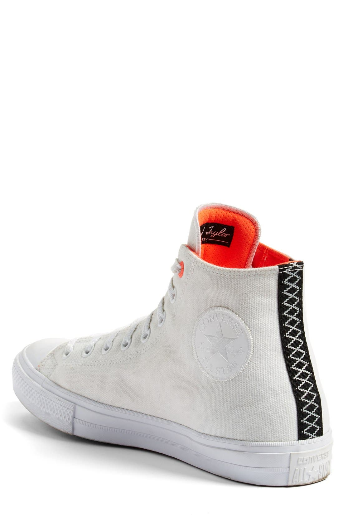 Chuck Taylor<sup>®</sup> All Star<sup>®</sup> II 'Shield' Water Repellent High Top Sneaker,                             Alternate thumbnail 2, color,                             White/ Lava/ Gum