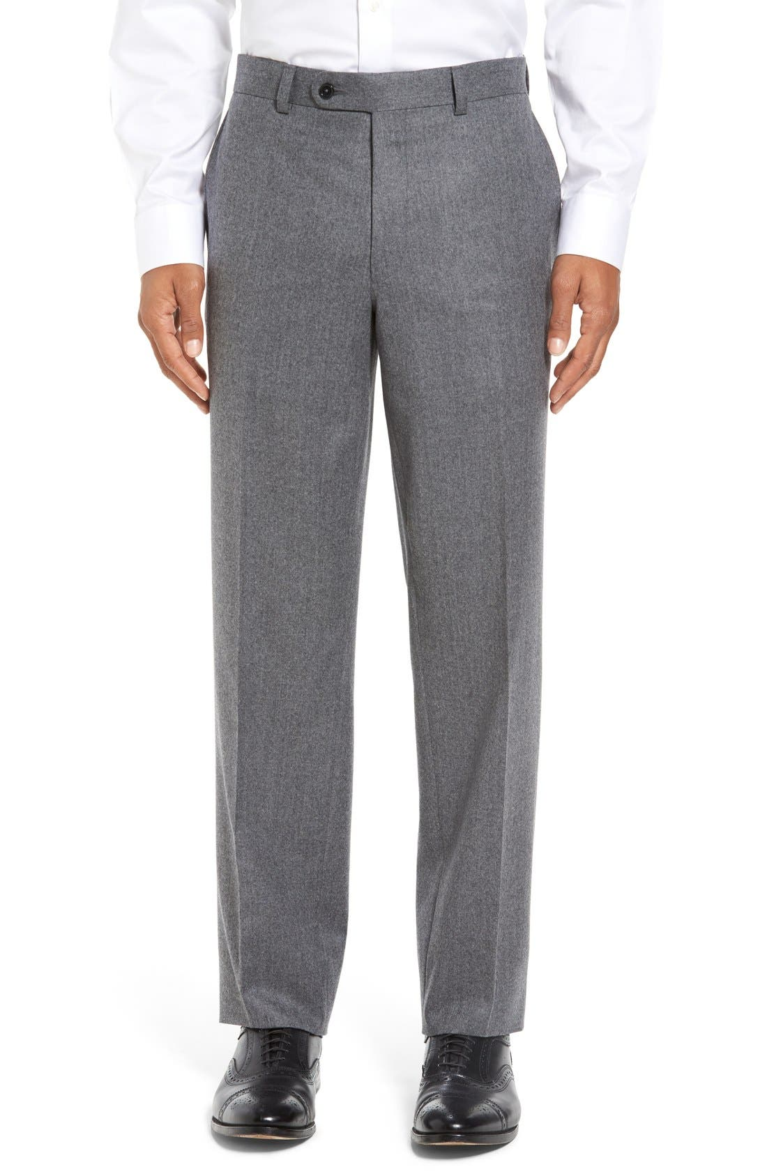 Alternate Image 1 Selected - David Donahue 'Ryan' Classic Fit Trousers