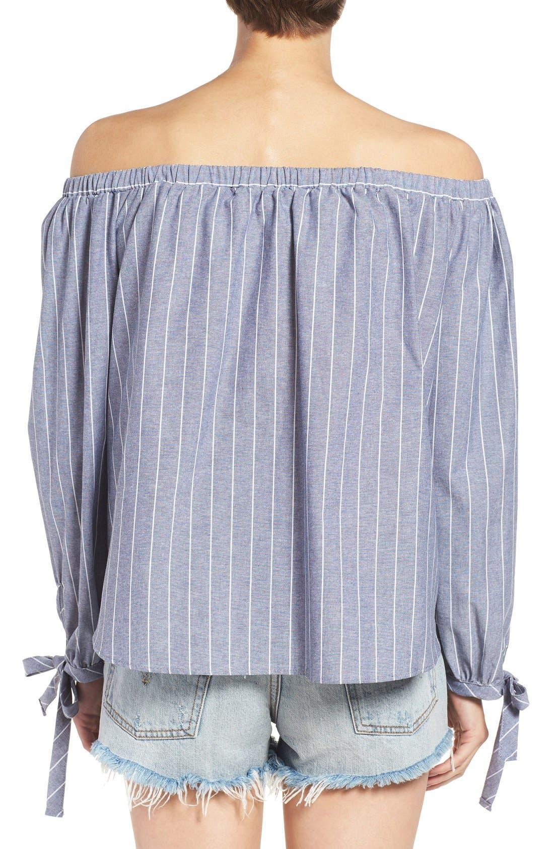 Alternate Image 2  - BP. Stripe Off the Shoulder Blouse