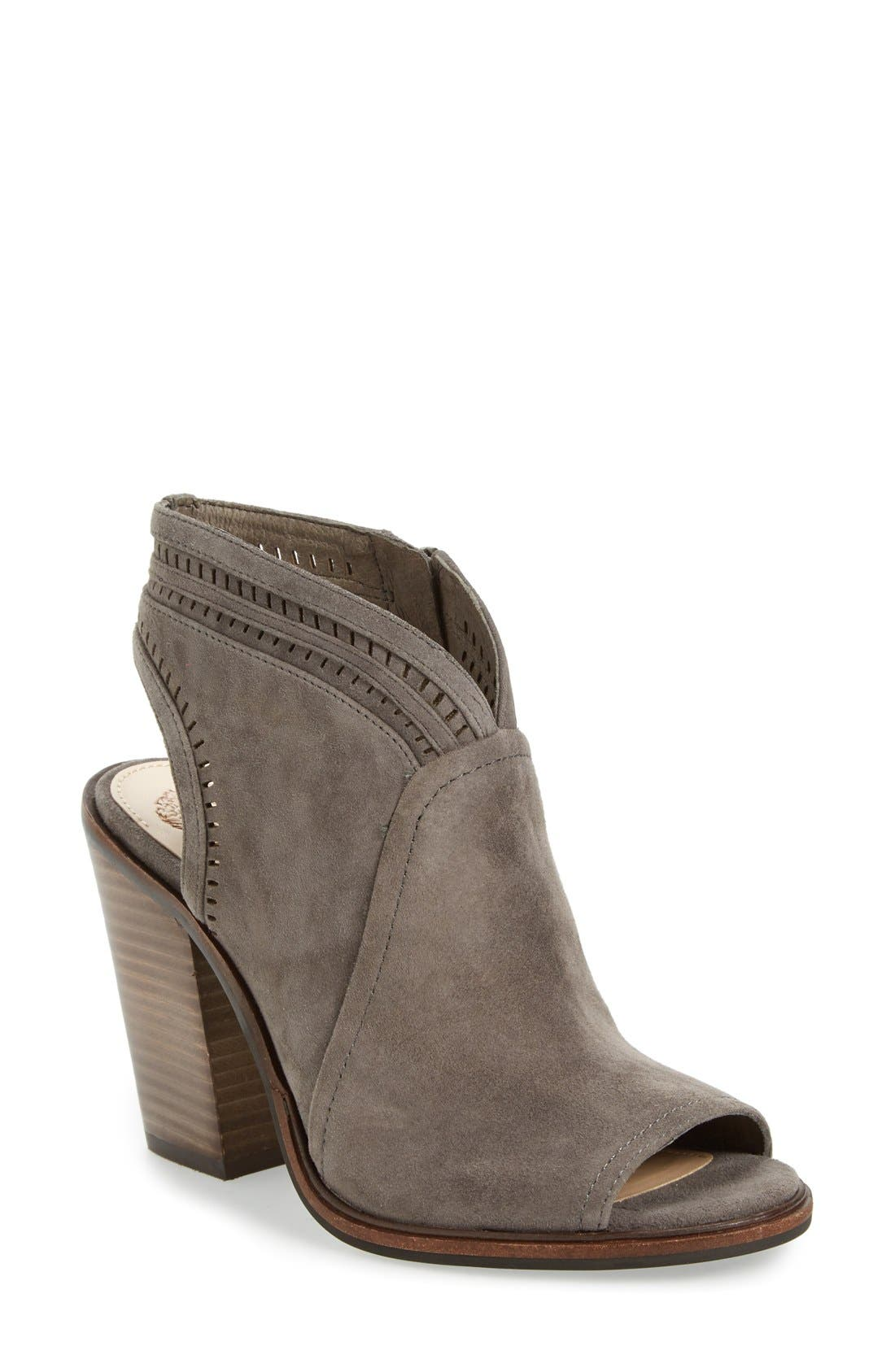 Main Image - Vince Camuto 'Koral' Perforated Open Toe Bootie (Women) (Nordstrom Exclusive)
