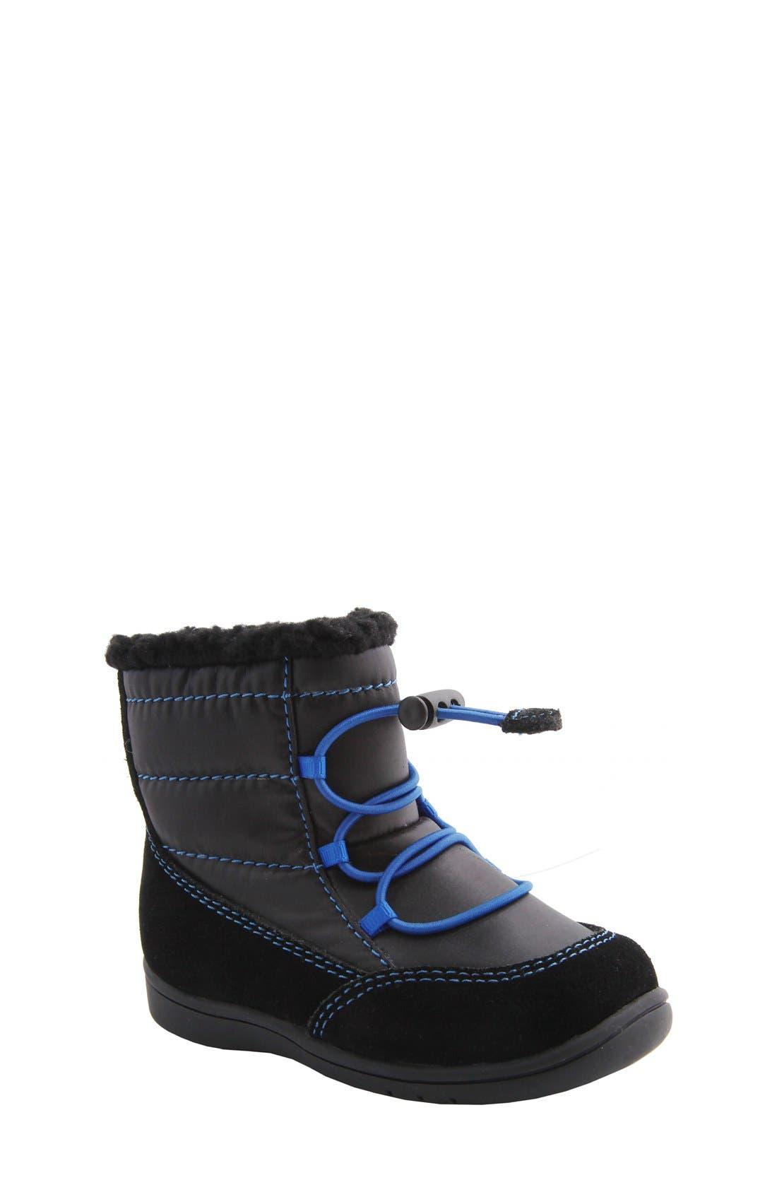 Nina 'Yolie' Lace-Up Boot,                             Main thumbnail 1, color,                             Black