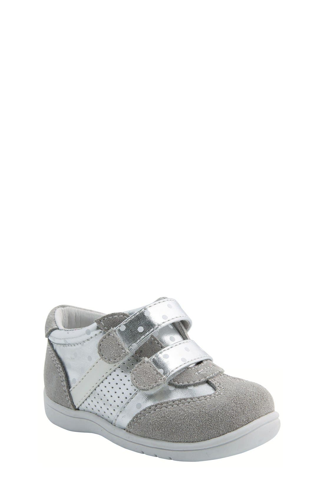 Nina 'Everest' Sneaker,                         Main,                         color, Silver