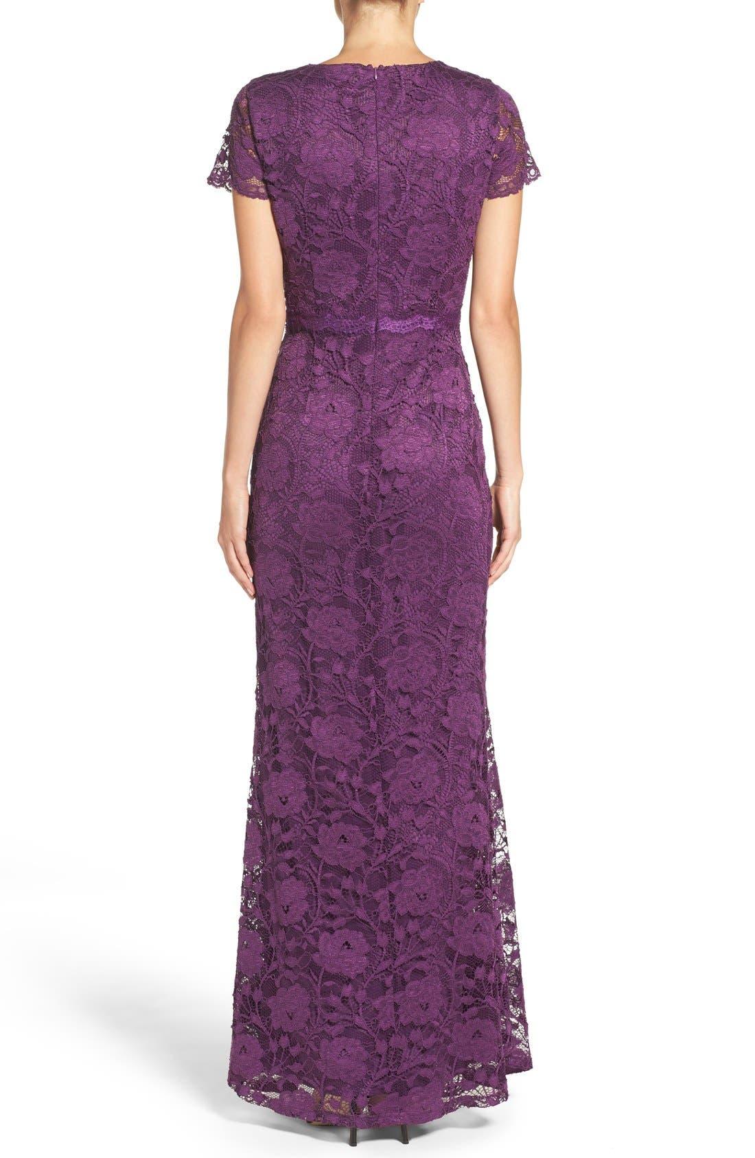 Lace Gown,                             Alternate thumbnail 2, color,                             Plum