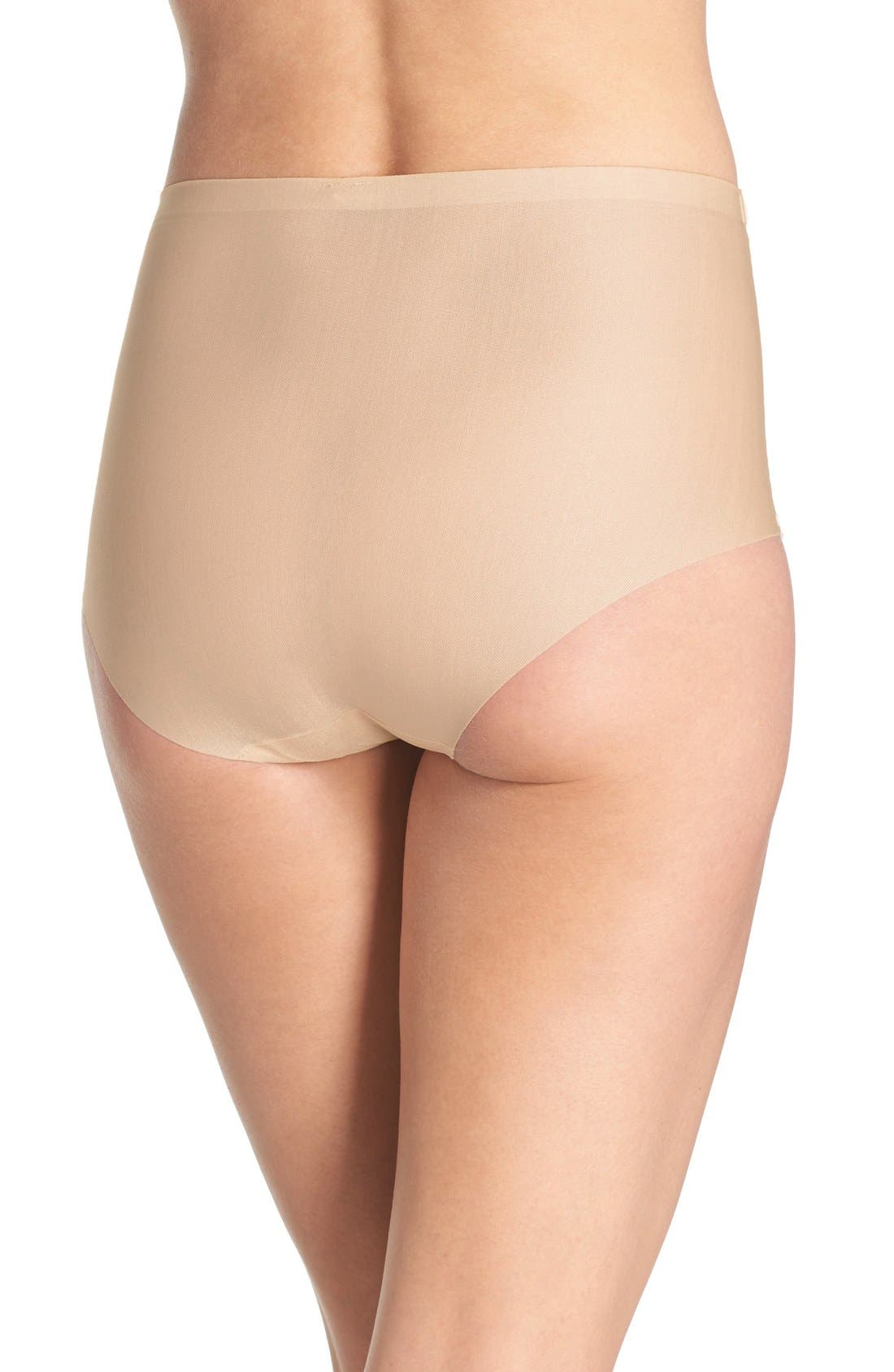 High Waist Smoothing Briefs,                             Alternate thumbnail 2, color,                             Sand