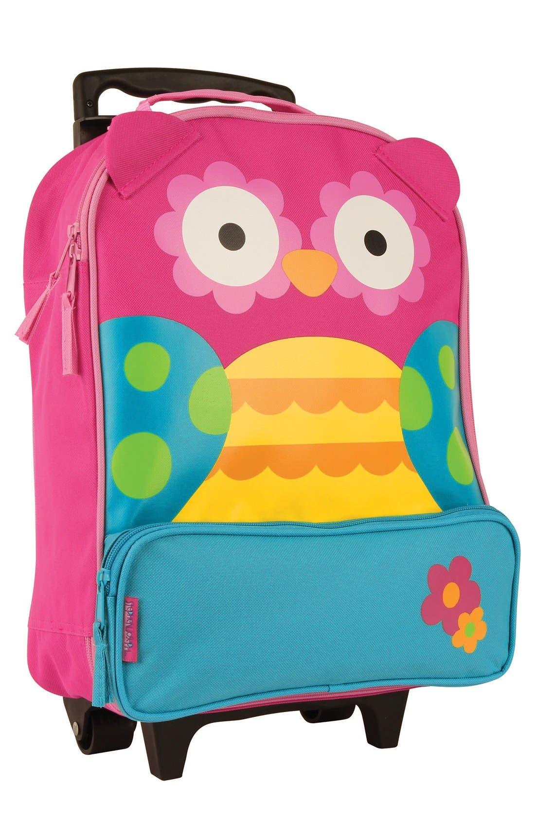 'ELP' Rolling Suitcase,                         Main,                         color, Owl