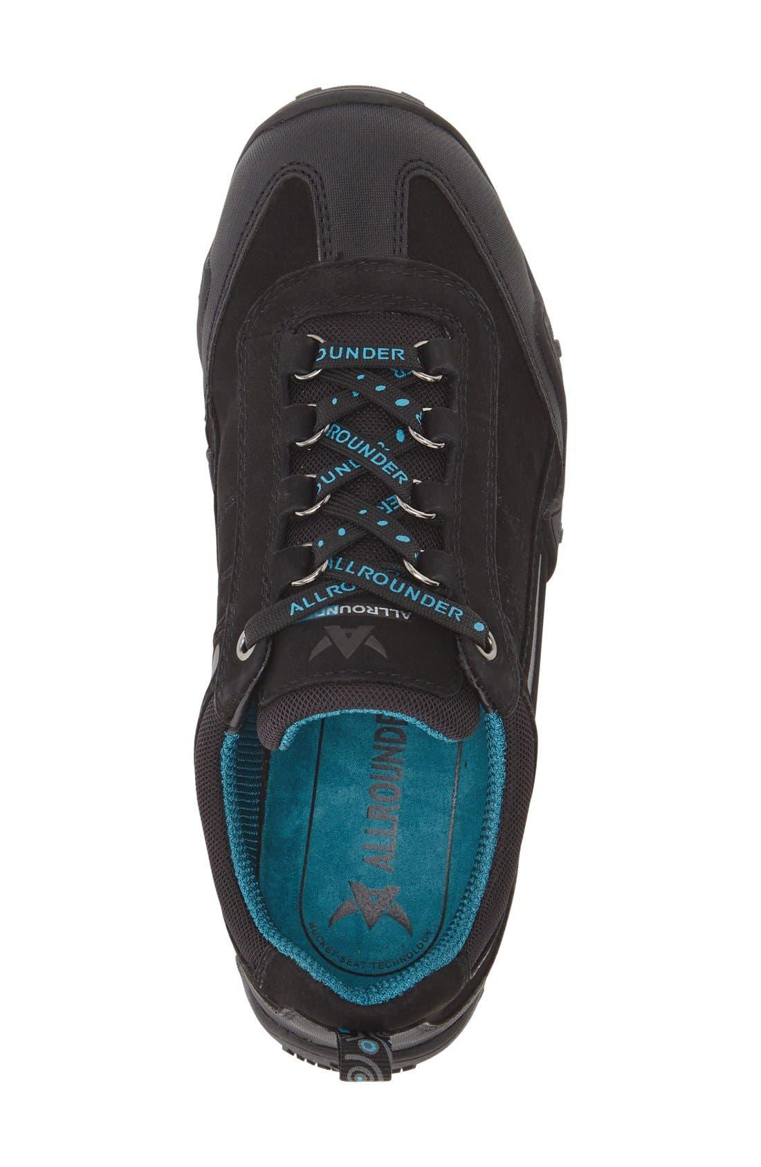 'Fina-Tex' Sneaker,                             Alternate thumbnail 3, color,                             Black Suede