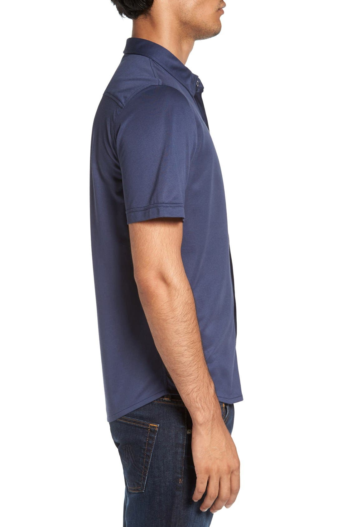 Alternate Image 3  - Travis Mathew Hines Slim Fit Wrinkle Resistant Sport Shirt