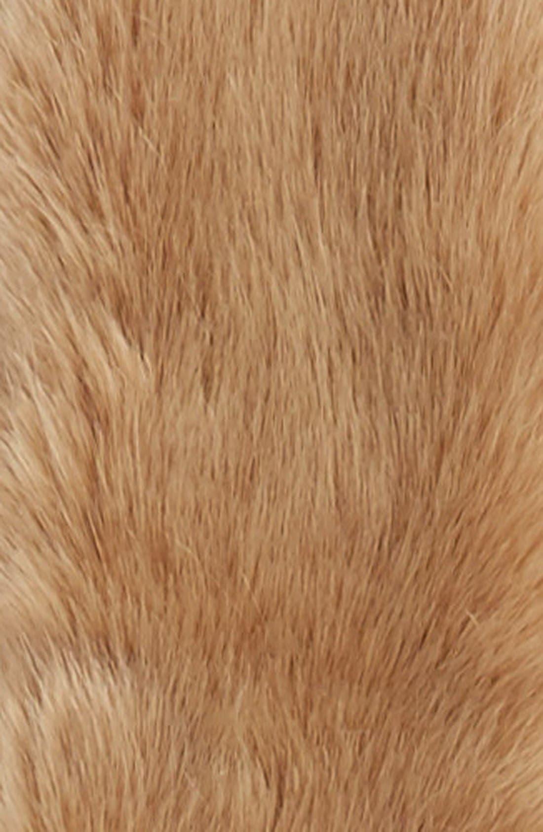 Faux Fur Stole,                             Alternate thumbnail 4, color,                             Natural