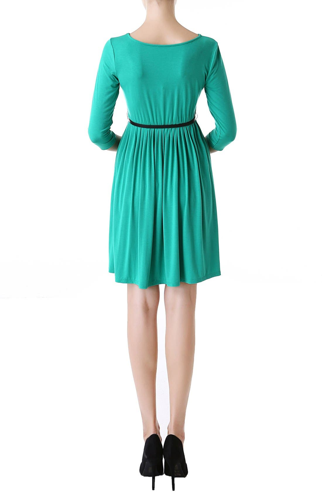'Shannon' Maternity Dress,                             Alternate thumbnail 2, color,                             Emerald
