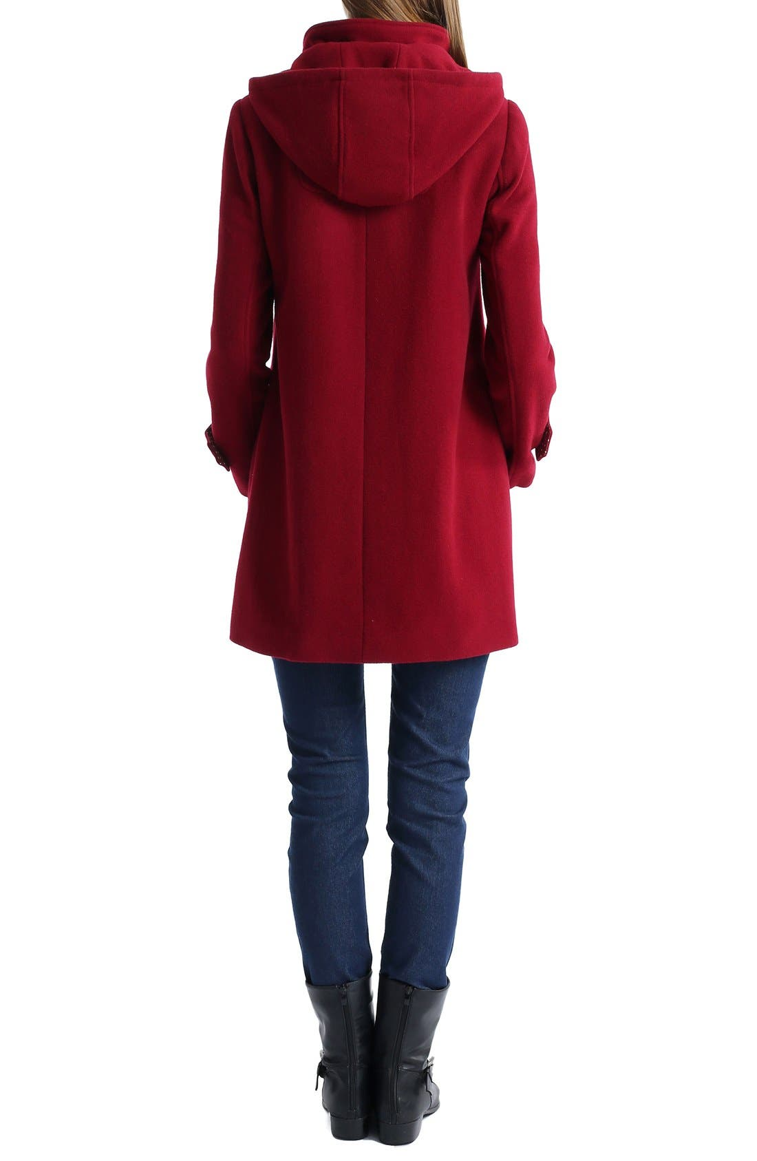 'Penelope' Maternity Trench Coat,                             Alternate thumbnail 2, color,                             Wine