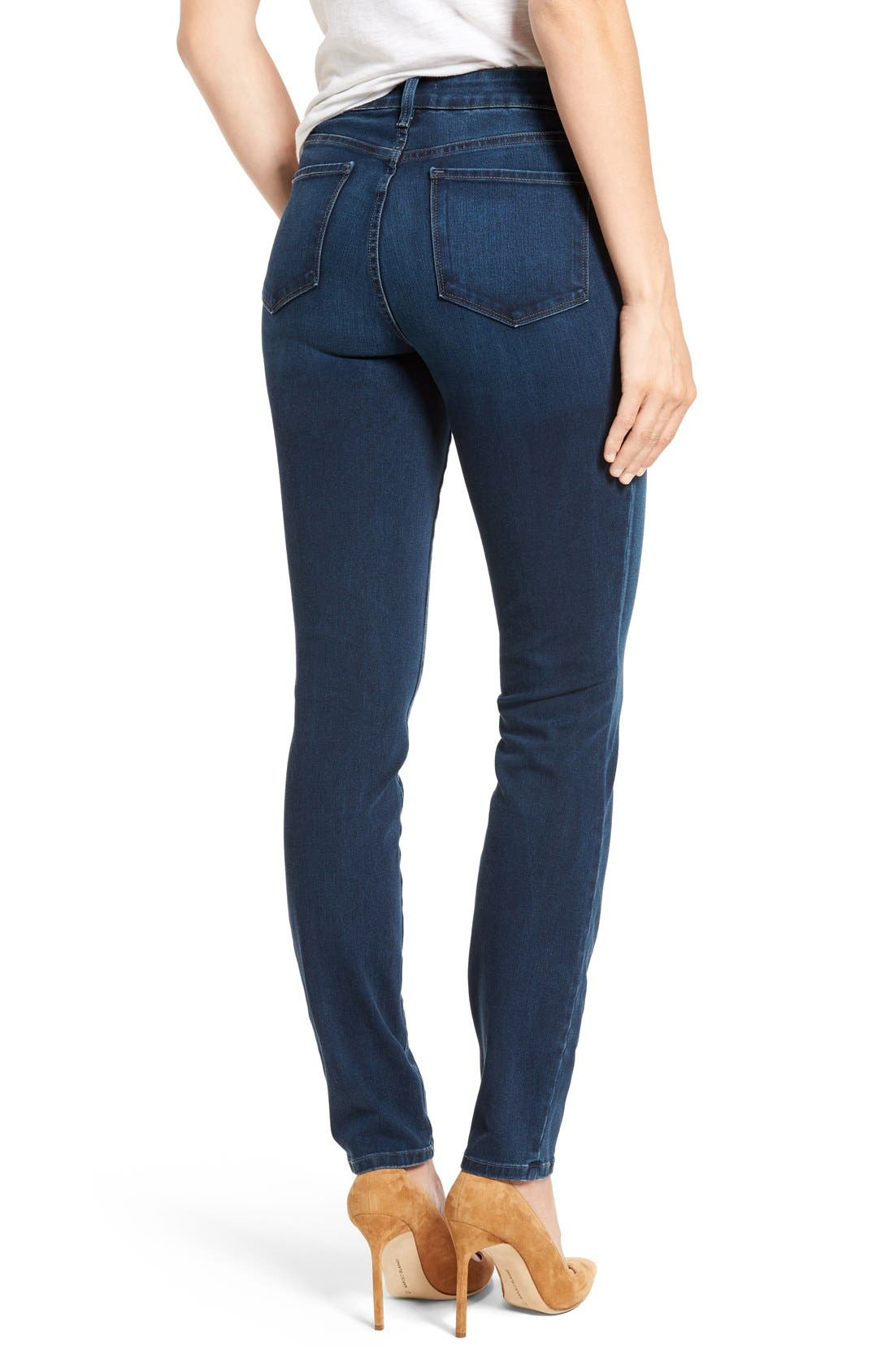 Alina Colored Stretch Skinny Jeans,                             Alternate thumbnail 2, color,                             Montrouge