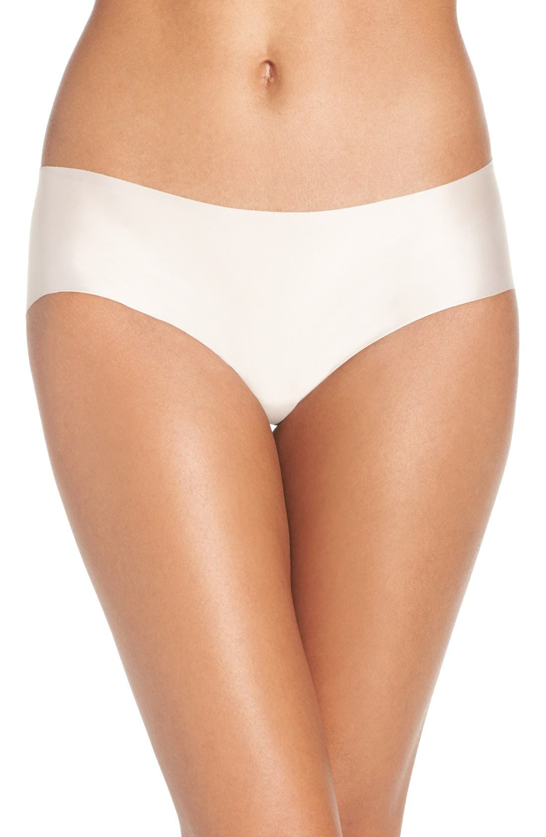 'Luxe' Satin Briefs,                         Main,                         color, Creme