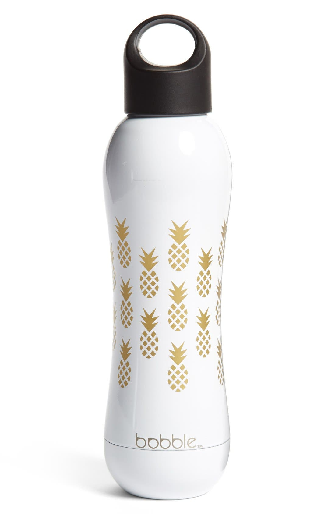 'Pining for You' Stainless Steel Water Bottle,                             Main thumbnail 1, color,                             White