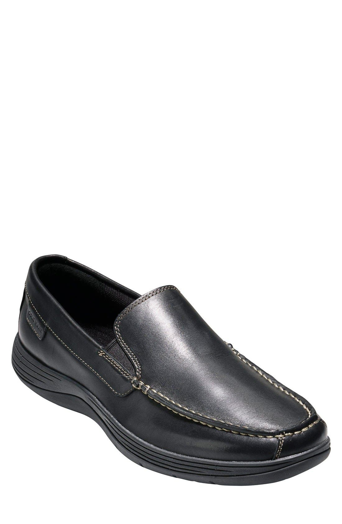 'Lewiston' Loafer,                             Main thumbnail 1, color,                             Black