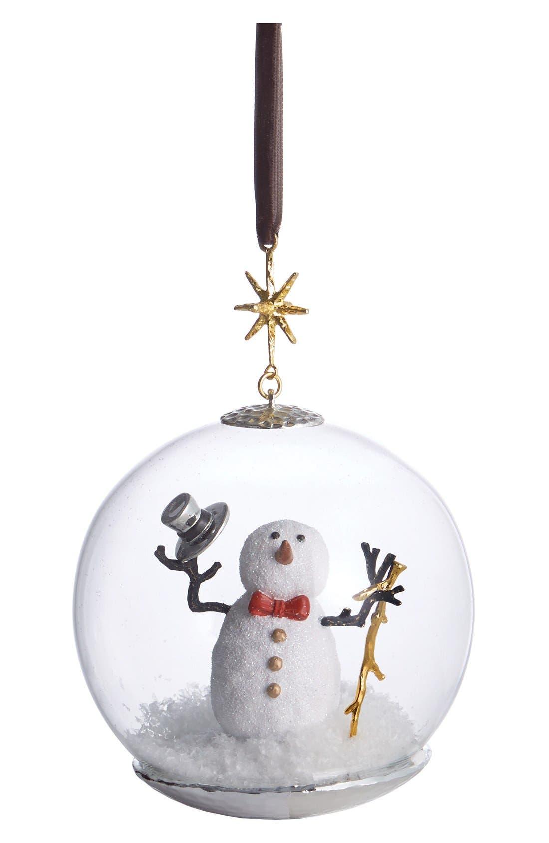 Alternate Image 1 Selected - Michael Aram Snowman Snow Globe Ornament