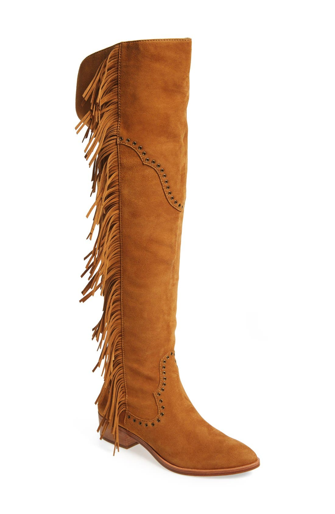 Frye 'Ray' Fringe Over the Knee Boot (Women)
