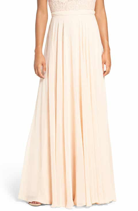 Jenny Yoo 'Hampton' Long A-Line Chiffon Skirt