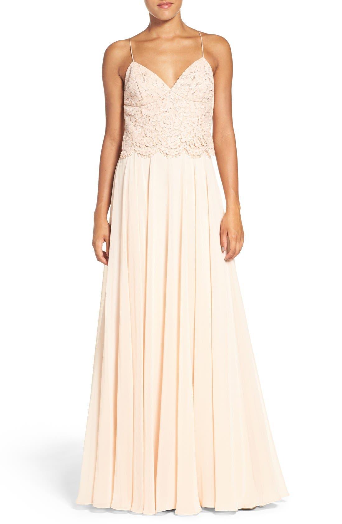 Alternate Image 5  - Jenny Yoo 'Hampton' Long A-Line Chiffon Skirt