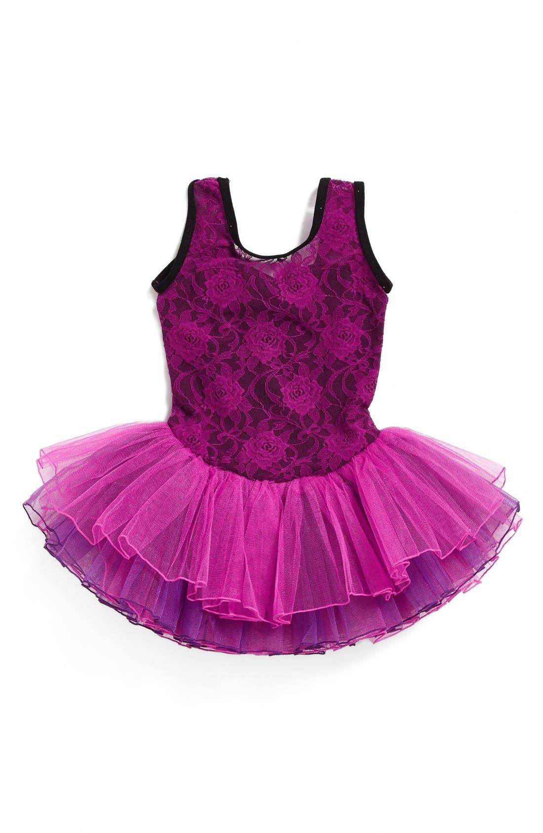 Lace Tutu Dress,                         Main,                         color, Purple