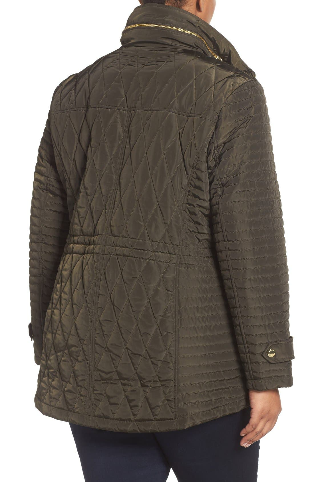 Quilted Jacket,                             Alternate thumbnail 2, color,                             Dark Moss