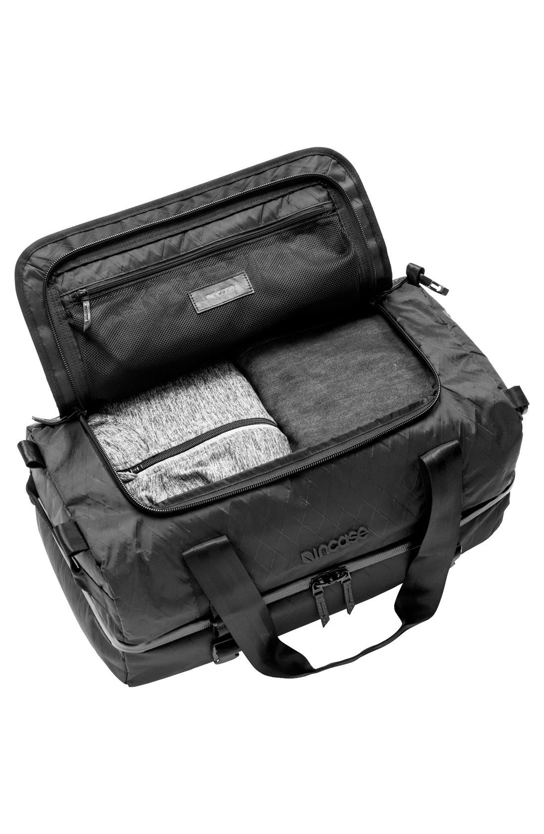 TRACTO Diamond Wire Split Travel Bag,                             Alternate thumbnail 4, color,                             Black