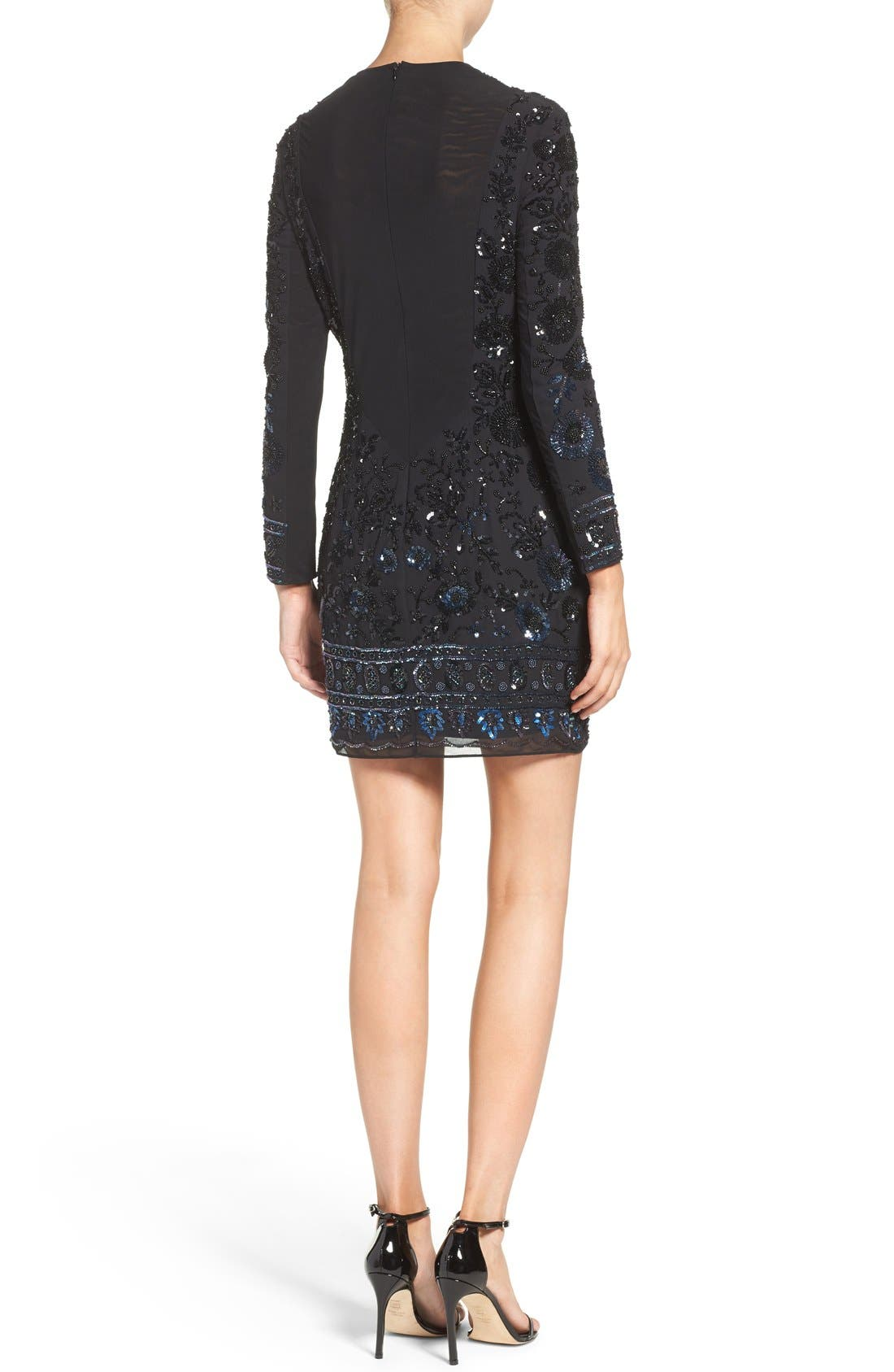 Alternate Image 2  - Needle & Thread Embellished Mesh Sheath Dress