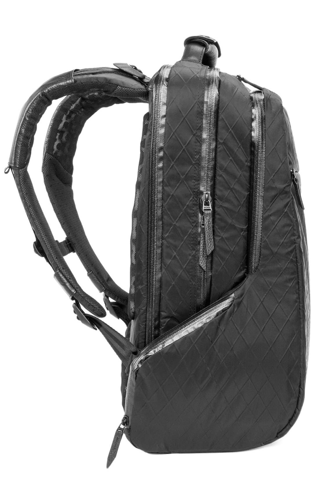 'Icon' Diamond Wire Backpack,                             Alternate thumbnail 6, color,                             Black