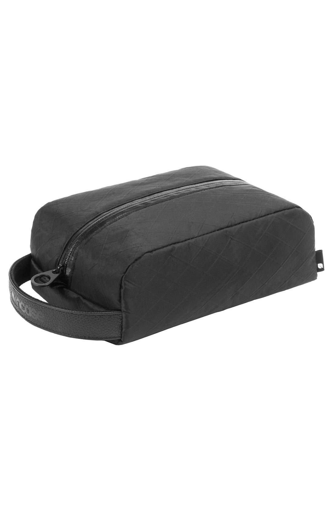 Diamond Wire Dopp Kit,                             Alternate thumbnail 6, color,                             Black