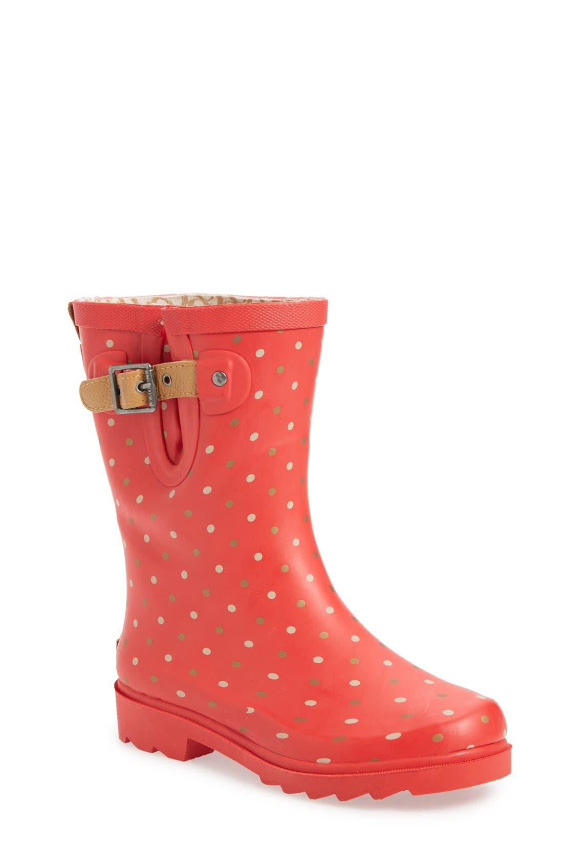 Alternate Image 1 Selected - Chooka 'Classic Dot' Mid High Rain Boot (Women)