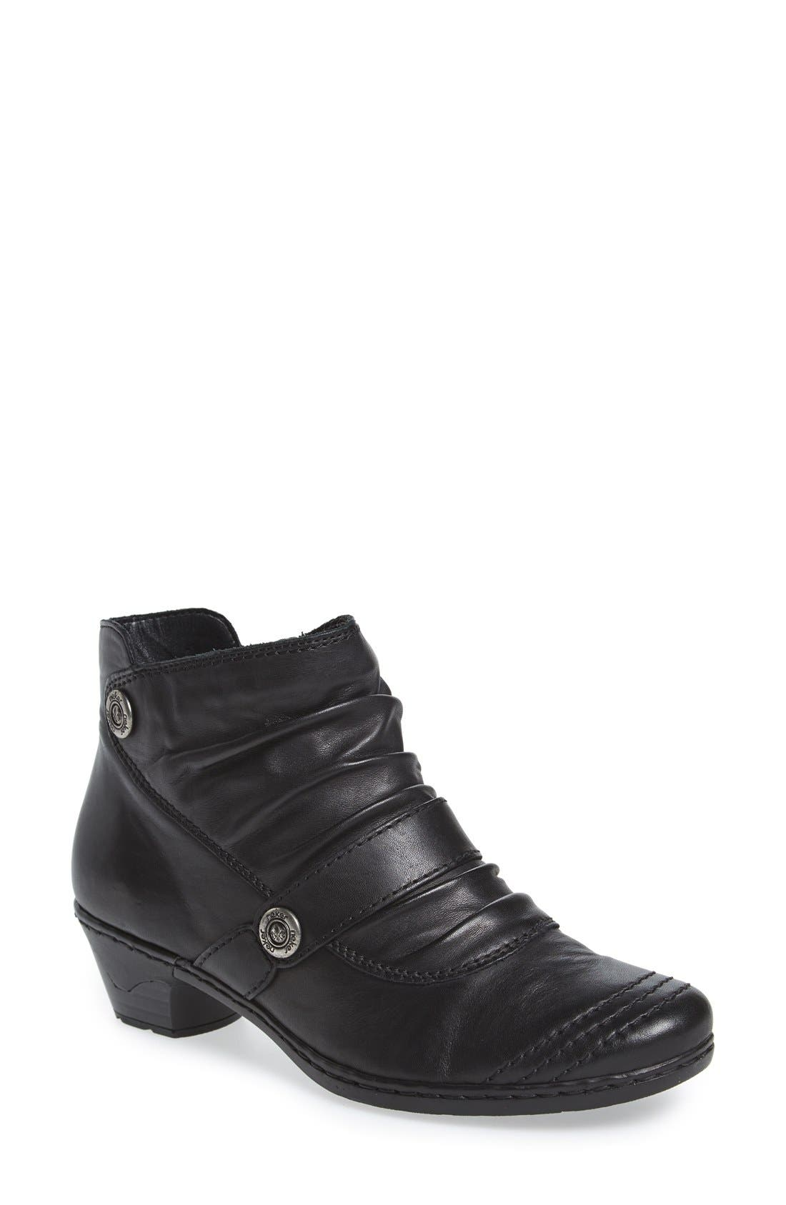 'Lynn 63' Slouchy Bootie,                             Main thumbnail 1, color,                             New Black Leather
