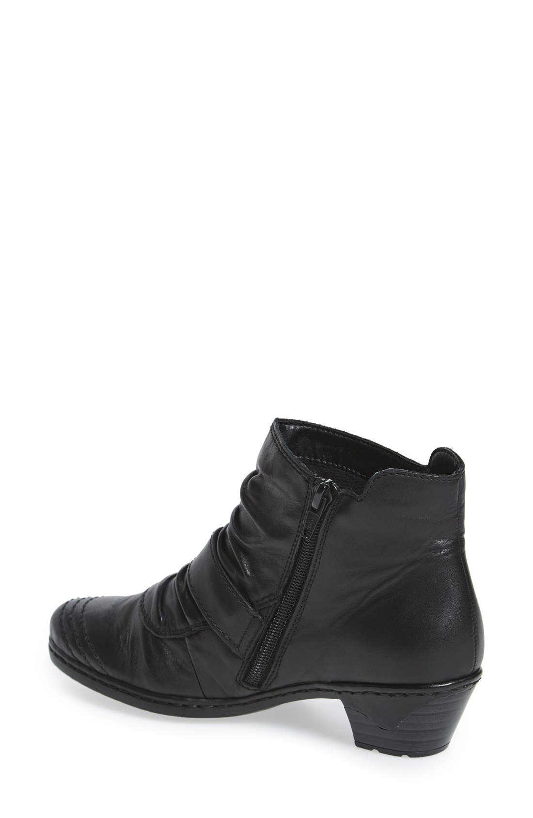 'Lynn 63' Slouchy Bootie,                             Alternate thumbnail 2, color,                             New Black Leather