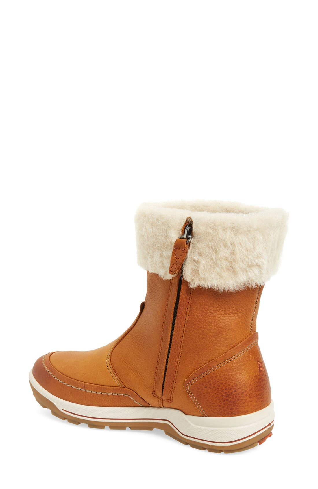 Trace Water Resistant Bootie,                             Alternate thumbnail 2, color,                             Amber Oiled Nubuck Leather