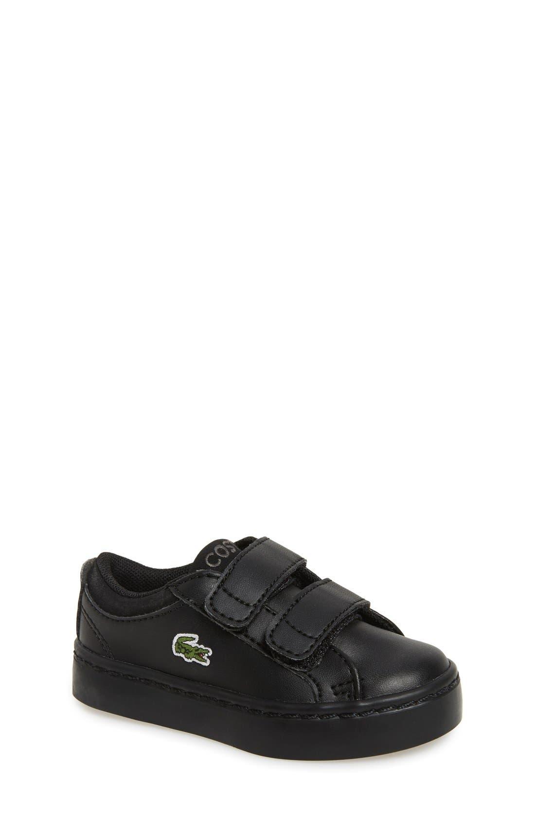 Lacoste 'Straightset' Sneaker (Baby, Walker & Toddler)